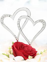 cheap -Cake Topper Beach Theme Classic Theme Fairytale Theme Hearts Chrome Wedding Anniversary With Rhinestone PVC Bag