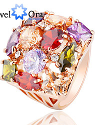 cheap -Band Ring Cubic Zirconia Rose Gold Cubic Zirconia Alloy Fashion / Women's
