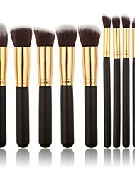 cheap -Professional Makeup Brushes Makeup Brush Set 10 Travel Eco-friendly Professional Full Coverage Wood for Blush Brush Foundation Brush Eyeshadow Brush Concealer Brush Makeup Brush Set Powder Brush