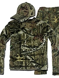 cheap -Men's Camo Shirt Hunting Shirt with Pants Outdoor Anti-Insect Breathable Sweat-Wicking Scratch Resistant Fall Spring Summer Clothing Suit Fleece Elastane Cotton Long Sleeve Hunting Fishing Camouflage