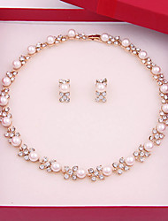 cheap -Women's Jewelry Set Choker Necklace Vintage Party Casual Link / Chain Simple Style Fashion Pearl Earrings Jewelry White For Party Special Occasion Anniversary Birthday Gift