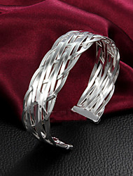 cheap -Women's Bracelet Bangles Sterling Silver Bracelet Jewelry Gold / Silver For Wedding Party Daily Casual