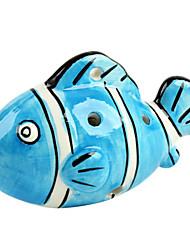 cheap -The Blue Fish Six Hole Ocarina C Shape