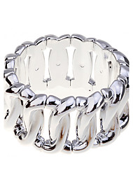 cheap -Women's Chain Bracelet Twisted Silver Plated Bracelet Jewelry Silver / Golden For Party Daily Casual / Gold Plated