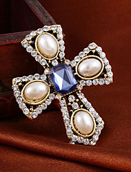 cheap -Women's Imitation Pearl Resin Brooch Jewelry Royal Blue For Wedding Party Daily Casual