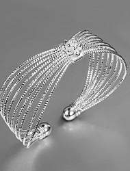 cheap -Women's Bracelet Bangles Unique Design Fashion Sterling Silver Bracelet Jewelry Gold / Silver For Wedding Party Daily Casual