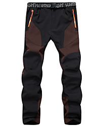 cheap -Men's Hiking Pants Outdoor Thermal / Warm Waterproof Windproof Breathable Winter Fleece Pants / Trousers Ski / Snowboard Hiking Camping Blue Gray Coffee M L XL XXL XXXL / Wear Resistance