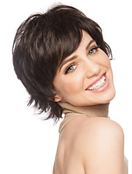 cheap -Synthetic Wig Curly Curly With Bangs Wig Short Black Synthetic Hair Women's Side Part Brown StrongBeauty