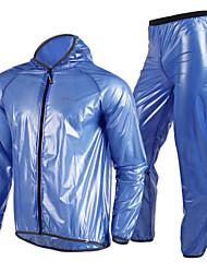cheap -Nuckily Men's Women's Cycling Jacket with Pants Bike Jacket Windbreaker Raincoat Waterproof Windproof Breathable Sports Solid Color Polyester Winter Dark Grey / Green / Blue Mountain Bike MTB Road