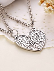 cheap -Necklace Pendant Necklaces Jewelry Thank You Daily Casual Valentine Heart Heart Copper 1set Gift
