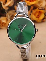 Недорогие -Жен. Наручные часы Кварцевый Серебристый металл Горячая распродажа Аналоговый Дамы Кулоны Мода - Зеленый Синий Розовый