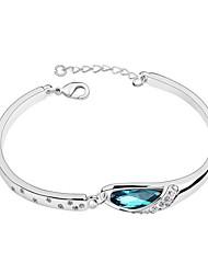 Недорогие -Браслет цельное кольцо Для вечеринки Для офиса На каждый день Камни и кристаллы Браслет Ювелирные изделия Синий Назначение