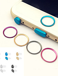 cheap -Metal Home button Cover Ring Protector Circle+Earphone Jack&Charging Port Anti-dust Plug Set for IPHONE 6/6S&6/6S PLUS