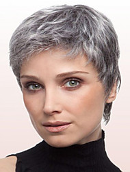 cheap -Synthetic Wig Straight Straight Wig Short Grey Synthetic Hair Gray