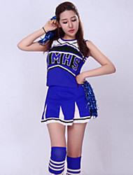 cheap -Cheerleader Costumes Top Embroidery Women's Performance Sleeveless High Polyester