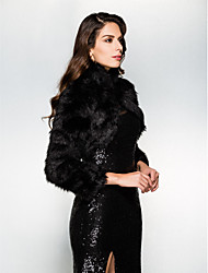 cheap -Long Sleeve Faux Fur Wedding / Party Evening Wedding  Wraps With Shrugs