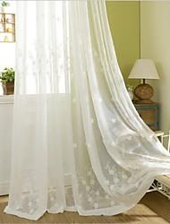 abordables -rideaux écologiques drapés deux panneaux / broderie / chambre à coucher