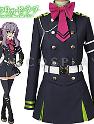 cheap -Inspired by Seraph of the End Hiiragi Tsukasa Anime Cosplay Costumes Japanese Cosplay Suits Top Skirt Belt For Men's Women's / Bow / More Accessories / Bow / More Accessories