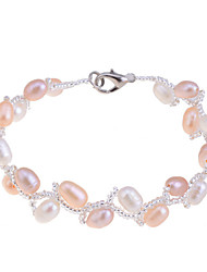 cheap -Women's Pearl Bead Bracelet Ladies Unique Design Fashion Pearl Bracelet Jewelry White / Champagne For Party Daily Casual / Pink Pearl / Imitation Pearl