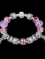 cheap -Crystal Chain Bracelet Vintage Party Brass Bracelet Jewelry Purple For