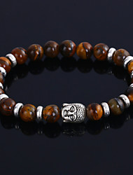 cheap -Men's Agate Black Lava Bead Bracelet Beads Ladies Personalized Fashion Agate Bracelet Jewelry Black / Brown / Blue For Wedding Party Gift Daily Casual Sports