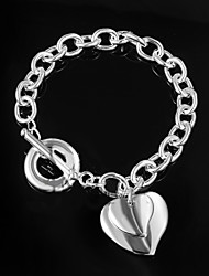 cheap -Women's Chain Bracelet Unique Design Fashion Sterling Silver Bracelet Jewelry Silver For Wedding Party Daily Casual