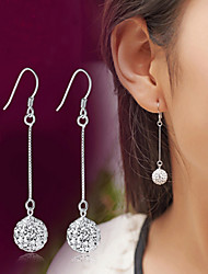 cheap -Crystal Synthetic Diamond Drop Earrings Hanging Earrings Disco Ball Ball Ladies Luxury Classic Fashion Sterling Silver Crystal Imitation Diamond Earrings Jewelry Silver For Wedding Party Daily