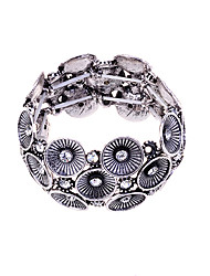 cheap -Women's Bead Bracelet Silver Plated Bracelet Jewelry Silver / Golden For Party Daily Casual / Gold Plated