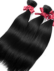 cheap -3 Bundles Brazilian Hair Straight Natural Color Hair Weaves / Hair Bulk Human Hair Weaves Human Hair Extensions / 8A