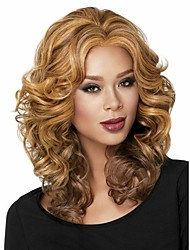 cheap -ladys blend short synthetic hair wave wigs extensions enough stock