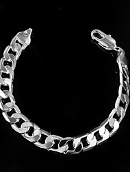 cheap -Men's Chain Bracelet Fashion Sterling Silver Bracelet Jewelry Silver For Christmas Gifts Wedding Party Daily Casual