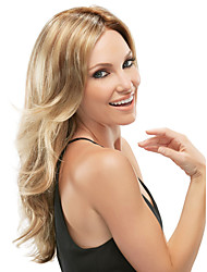 cheap -blonde color long syntheic wave wig