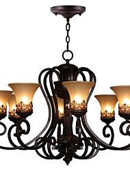 cheap -Ecolight 8-Light 67(26.5'') Crystal Chandelier Metal Glass Painted Finishes Vintage 110-120V / 220-240V