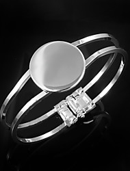 cheap -Women's Bracelet Bangles Sterling Silver Bracelet Jewelry Silver For Wedding Party Daily Casual