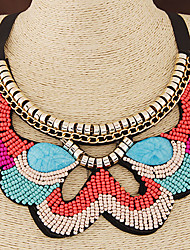 cheap -Women's Choker Necklace Collar Necklace Bohemian European Fashion Boho Resin Fabric Plastic Orange Blue Necklace Jewelry For Wedding Party Daily Casual