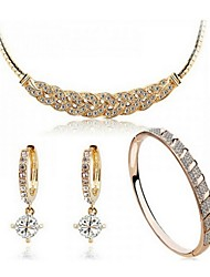 cheap -Jewelry Set Ladies Party Work Casual Fashion Earrings Jewelry Gold / Silver For Party Special Occasion Anniversary Birthday Gift / Necklace