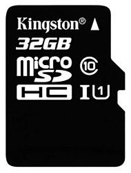 Недорогие -Kingston 32 Гб Карточка TF Micro SD карты карта памяти UHS-I U1 Class10