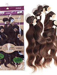 cheap -Brazilian Hair Body Wave 8A Natural Color Hair Weaves / Hair Bulk Human Hair Weaves Human Hair Extensions