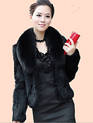 cheap -Long Sleeve Faux Fur Wedding Wedding  Wraps / Fur Coats With Feathers / Fur Shrugs