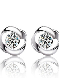 cheap -Women's Crystal Stud Earrings Fashion Sterling Silver Crystal Silver Earrings Jewelry Silver For Wedding Party Daily