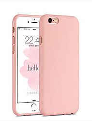 cheap -Phone Case For Apple Back Cover Silicone iPhone 6s Plus iPhone 6s iPhone 6 Plus iPhone 6 Shockproof Solid Color Soft Silicone
