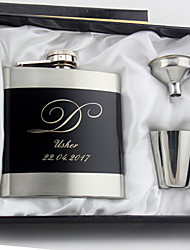 cheap -Personalized Stainless Steel Barware & Flasks / Hip Flasks Groom / Groomsman / Couple Wedding / Anniversary / Birthday
