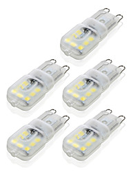 cheap -YWXLight® G9 14LED 4W 2835SMD 450-550 lm LED Bi-pin Lights Warm White Cool White Dimmable Led Corn Bulb Chandelier Lamp 5PCS