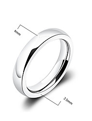 cheap -Men's Band Ring Silver Silver Plated Fashion Party Daily Jewelry