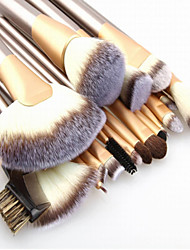 cheap -Make up Brushes 24pcs Premium Goat Hair Cosmetic Makeup Brush Set for Foundation Blending Blush Concealer Eye Shadow Travel Makeup bag Included
