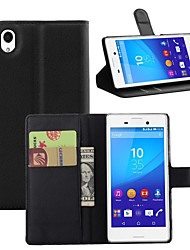 cheap -Case For Sony Xperia Z5 / Sony Xperia Z4 / Sony Xperia Z3 Sony Xperia Z2 / Sony Xperia Z3 / Sony Xperia Z3 Compact Wallet / Card Holder / Shockproof Full Body Cases Solid Colored Hard PU Leather