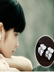 cheap -Women's Cubic Zirconia Stud Earrings Drop Earrings Ladies Fashion Cubic Zirconia Earrings Jewelry Gold / White For