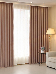 cheap -Blackout Curtains Drapes Two Panels / Jacquard / Bedroom