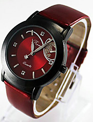cheap -Women's Wrist Watch Quartz Ladies Casual Watch Analog Purple Red / One Year / Stainless Steel / Quilted PU Leather / One Year / SSUO 377