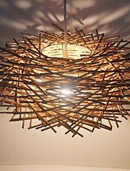 cheap -1-Light LED Pendant Light Wood / Bamboo Wood / Bamboo Novelty Others Modern Contemporary 220-240V